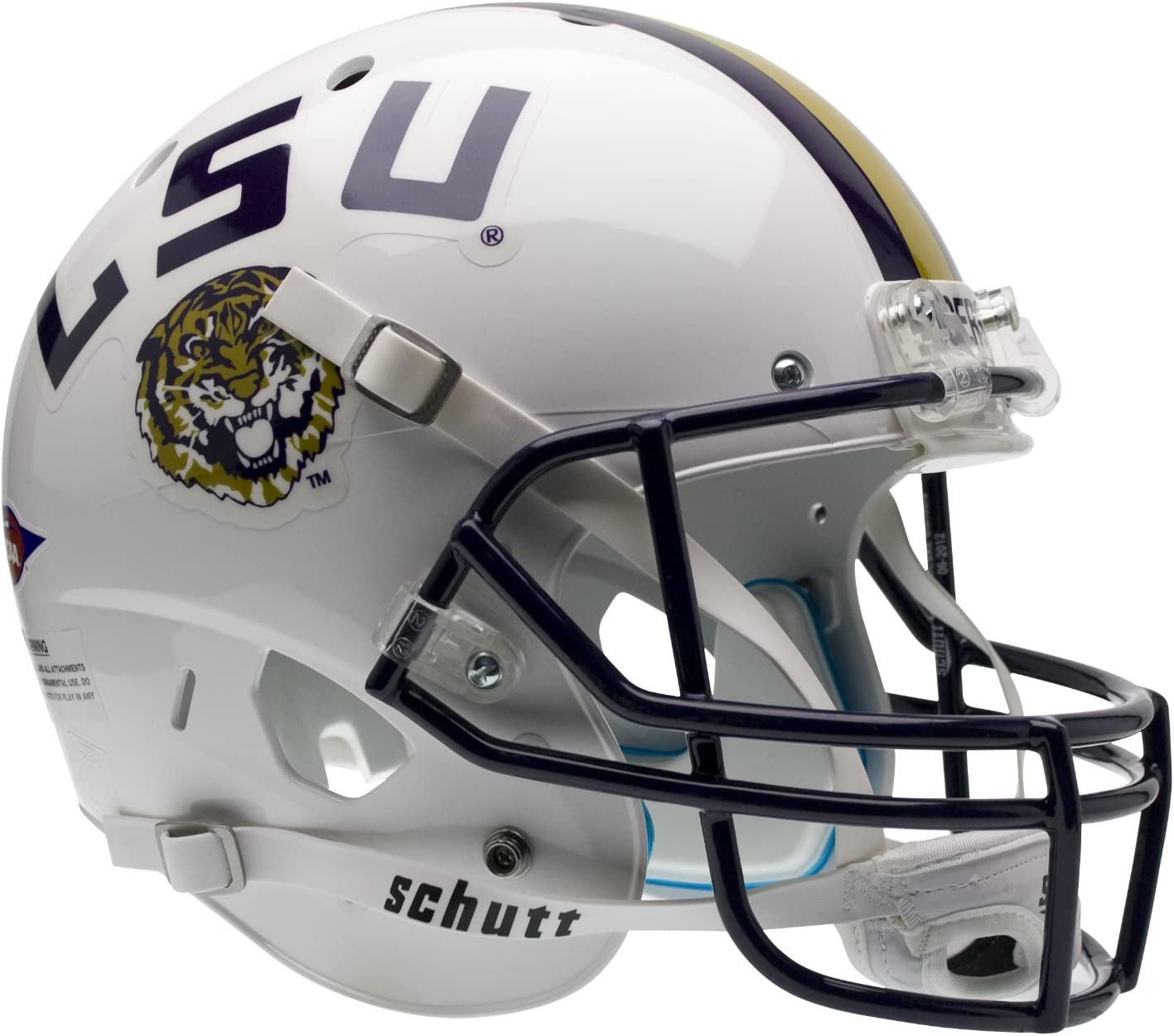 NCAA LSU Tigers Replica XP Helmet - Alternate 2 (White) : Sports Related Collectible Mini Helmets : Sports & Outdoors