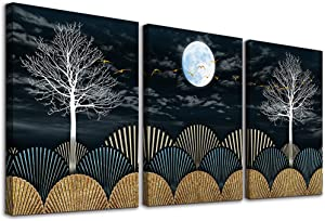 Canvas Wall Art For Bedroom Wall Decor For Living Room Bathroom Decor Black And White Landscape Painting Modern 3 Piece Framed Abstract Canvas Art Prints Ready To Hang Pictures For Home Decoration