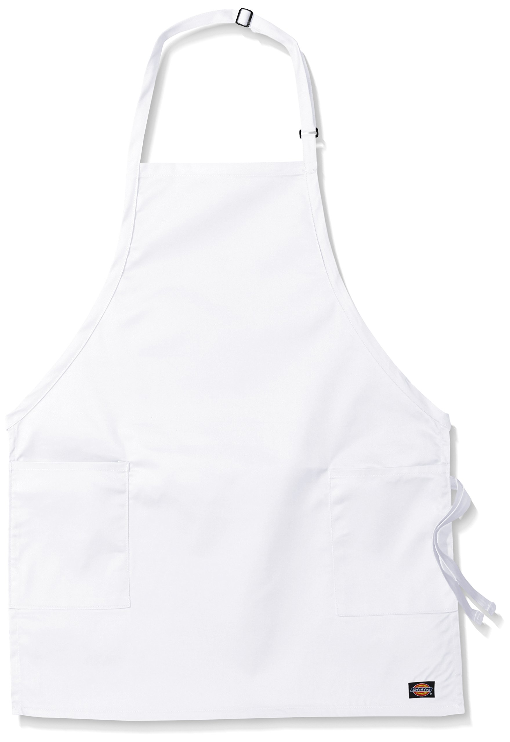 Dickies Chef Women's 3 Pack Adjustable 2 Pocket Bib Apron, White, One Size