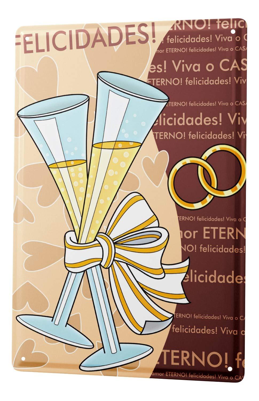 LEotiE SINCE 2004 Cartel Letrero de Chapa XXL Boda Anillos ...