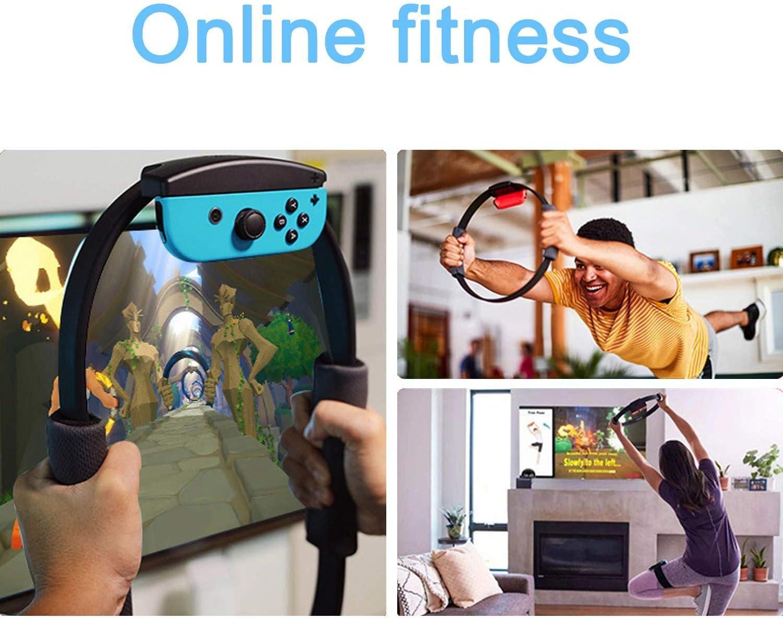 RUIXINBC Ring Fit Adventure para Nintendo Switch Accesorio, 1 Anillo De Fitness 1 Correa para La Pierna Y 2 Asas De Tela para Ring-con, Juego De Aventura En Línea Fitness for Yoga,Blue