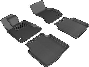 Kagu Rubber // Li ActiveHybrid Models 3D MAXpider Second Row Custom Fit All-Weather Floor Mat for Select BMW 7 Series Li F04 F02 Tan