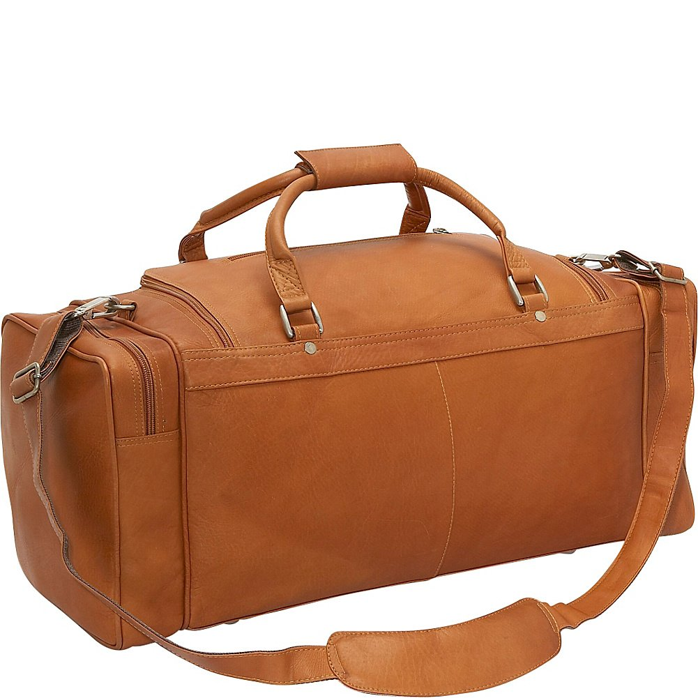 Piel Leather 24In Duffel with Pockets, Chocolate, One Size by Piel Leather (Image #3)