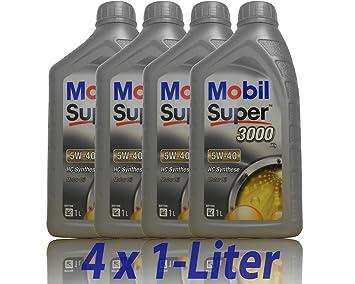 Mobil Super 3000 X1 5 W de 40 4 x 1 litro Aceite motorenöl 5 W40: Amazon.es: Coche y moto