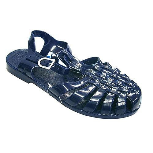 Sandalias de Goma cangrejeras de río Hurán en Azul Marino Talla 39: Amazon.es: Zapatos y complementos