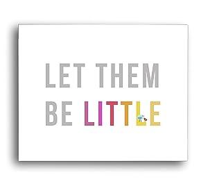 Let Them Be Little in Pink Children's Wall Art Print 14x11, Nursery Decor, Kid's Wall Art Print, Kid's Room Decor, Motivational Word Art, Inspirational Artwork for Kids, Baby Room Decor