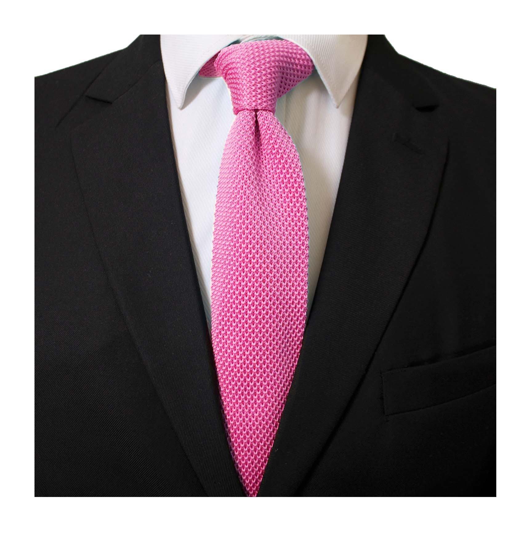 Mens Knit Coral Pink Ties Blush Modern Basic Designed Groomsmen Wedding Neckties