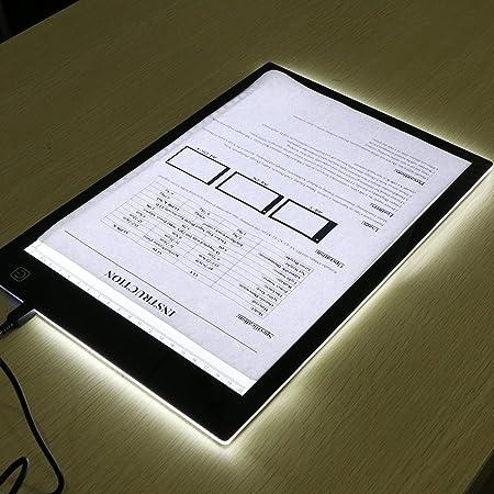 Caja de Luz Para Calcar,LED Light Tracing Pad,Dibujo Copiadora Escritorio Protección Ojos Diseño A4 Tacto Ligereza Ajustable Inteligente para el artista Cartón Hacer Sketch Diseño(Professional): Amazon.es: Hogar