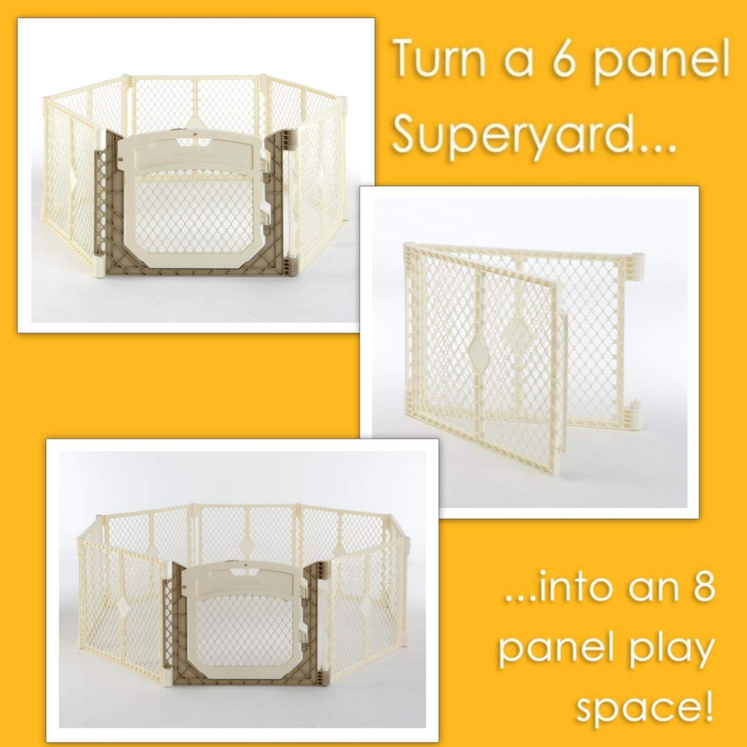 North States 2-Panel Extension for Ivory Superyard Ultimate Play Yard Increases