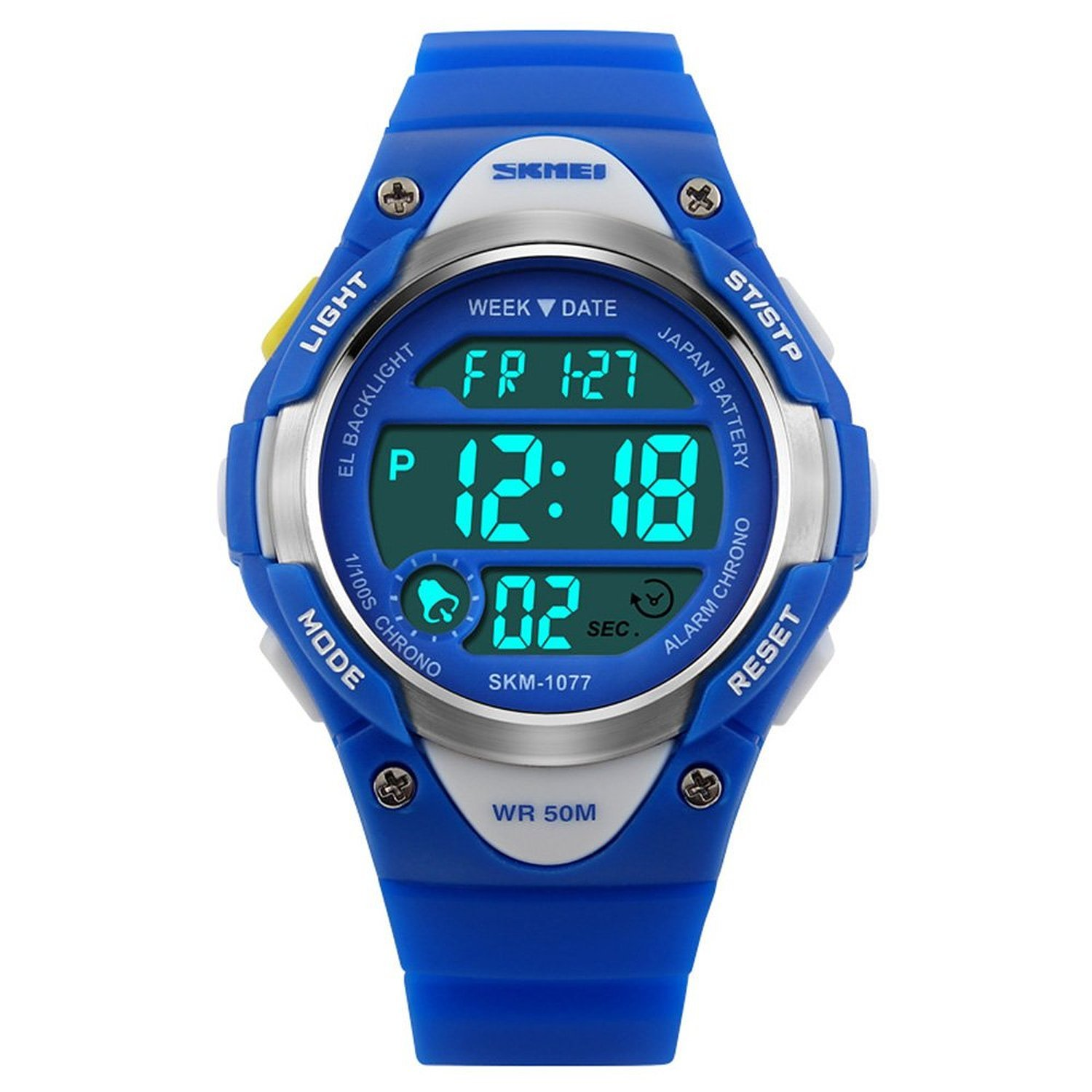 Kids Sport Digital Watch Waterproof for Boys Girls with Alarm Stopwatch Timer LED Electronic Wrist Watch Age 5-15 Children Gifts 1077