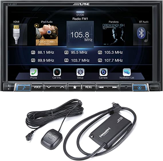 Alpine iLX-W650 7 Mech-Less Receiver Compatible with Apple CarPlay and Android Auto