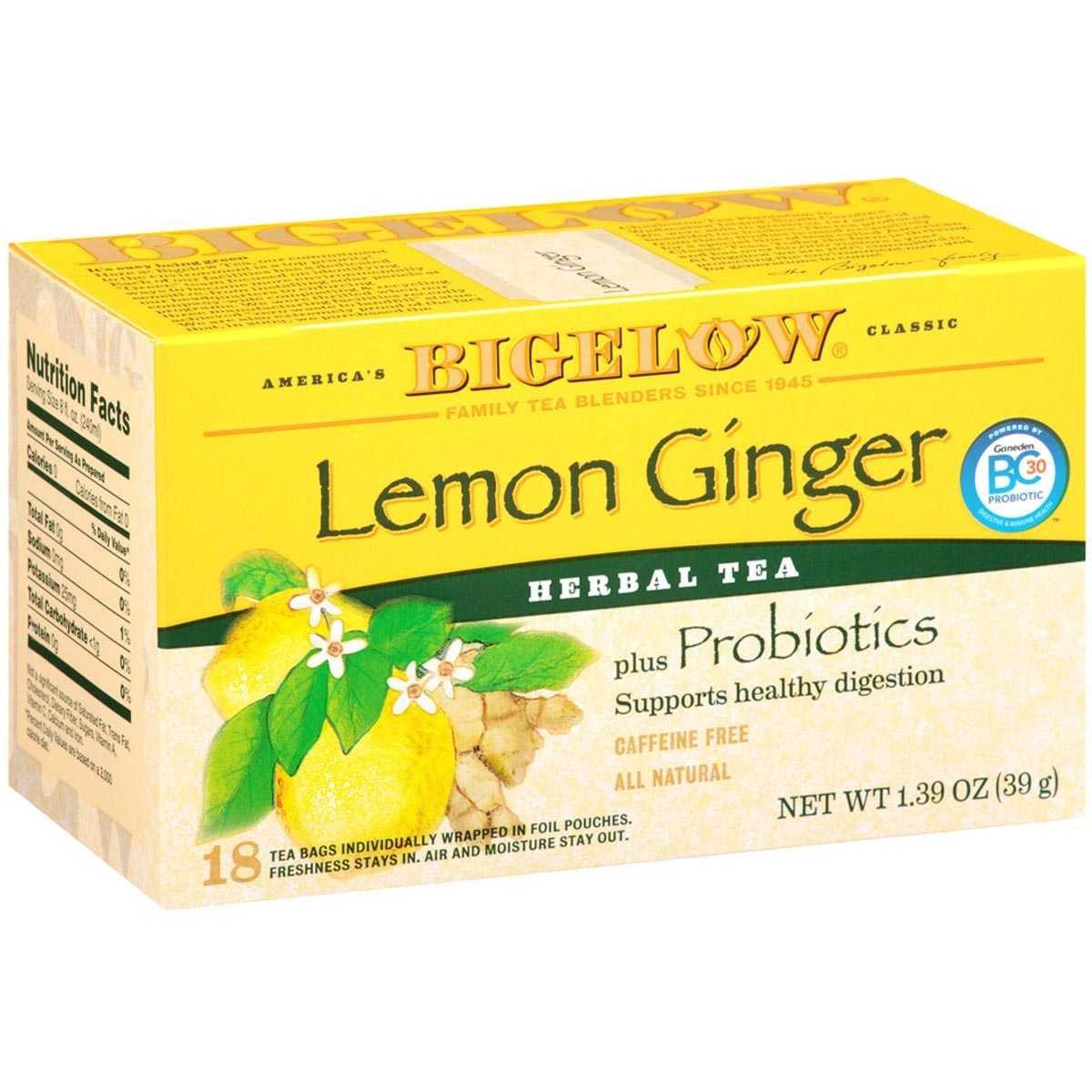 Bigelow herbal tea - Amazon Com Bigelow Herbal Lemon Ginger Tea 1 39 Ounce Pack Of 6 Green Teas Grocery Gourmet Food