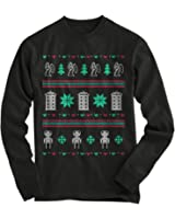 QDYJM Women's Who's Sweater Is This Ugly Christmas Long Sleeve T ...