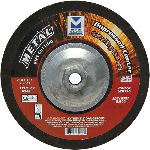 "4-1//2/"" x 1//4/"" x 7//8/"" Aluminum Grinding Wheels Load Resistant Discs T27 100Pack"