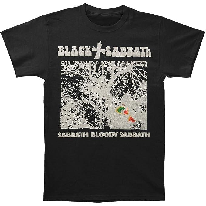 b884c11bb Black Sabbath Men's Vintage Sabbath Bloody Sabbath Slim Fit T-Shirt Small  Black