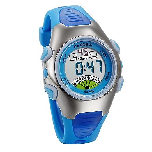 JewelryWe Relojes para Niños Niñas Reloj Deportivo Digital Para Aire Libre Reloj Infantil De Colores Dibujos Animados Correa de Silicona Suave, ...