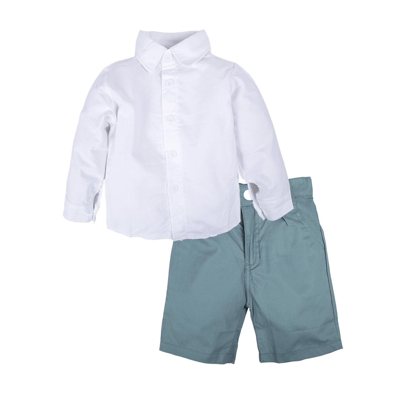 BIG ELEPHANT Pantalones cortos de manga corta de verano para ni/ños de 2 piezas de Kid Boys Set Q24
