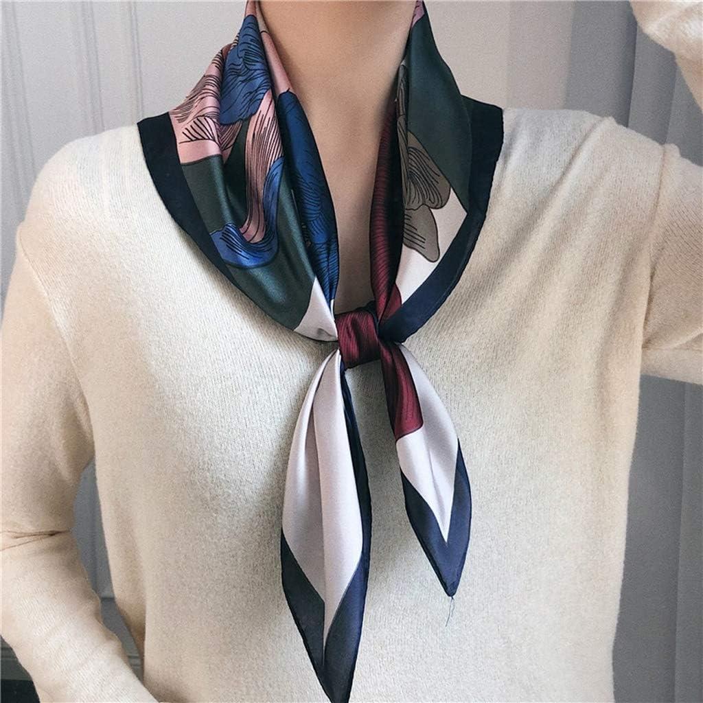Elegant Silk Scarf Womens Small Square Scarf Fashionable Joker Business Career Neckerchief Shawl