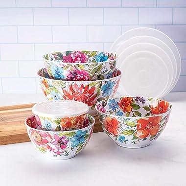 Member's Mark Melamine 10-Piece Mixing Bowl Set - Floral
