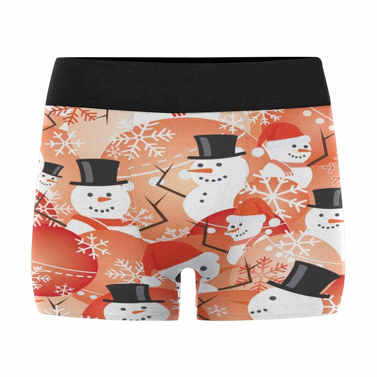XS-3XL INTERESTPRINT Mens Boxer Briefs Underwear Christmas Pattern