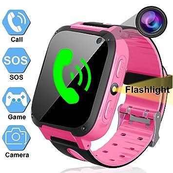 Niños Niñas Smartwatch Teléfono Reloj Inteligente con Al ...
