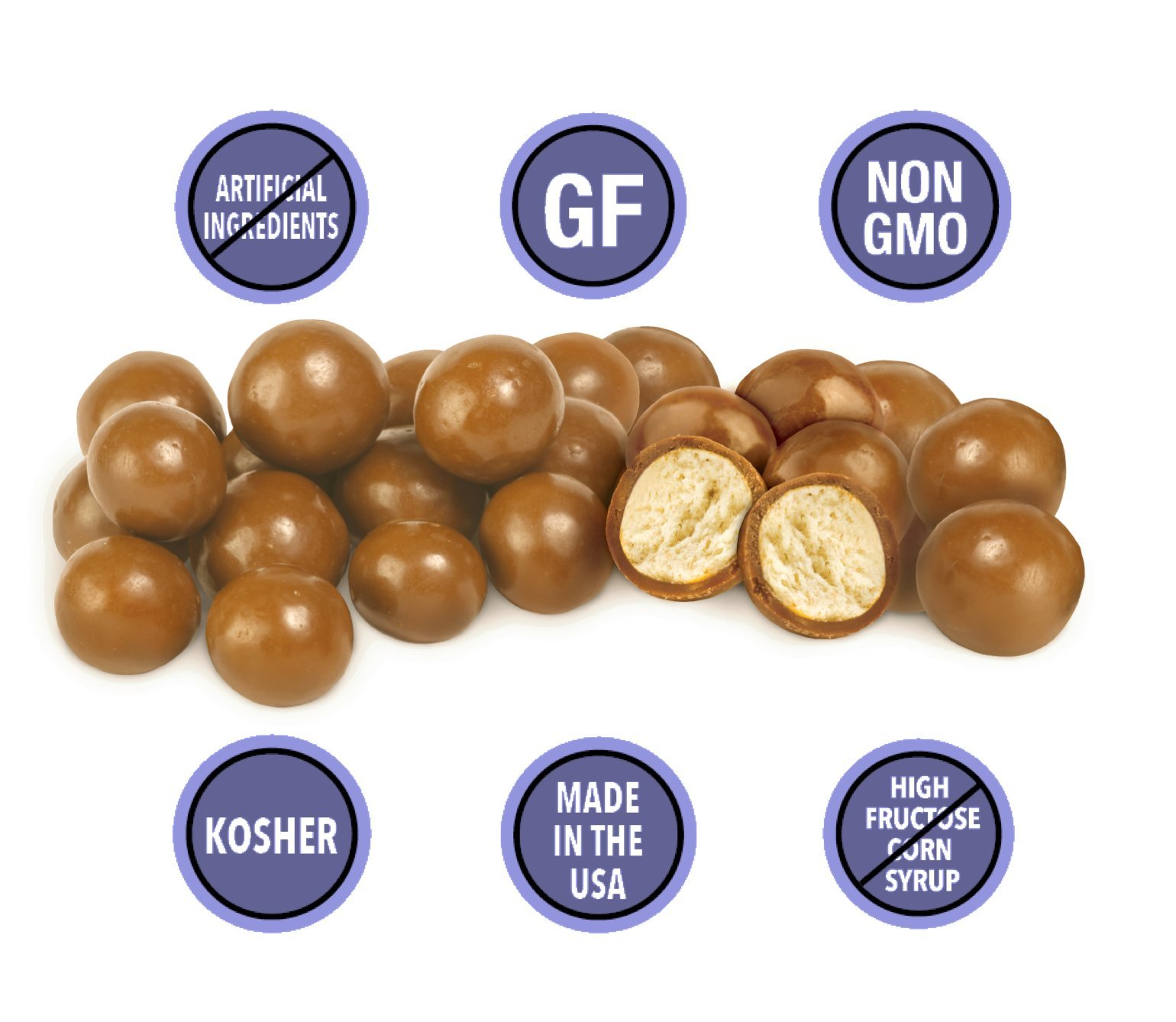 GLUTEN-FREE SALTED CARAMEL Covered Pretzel Balls (3-Pack) - Lovely Candy Co. (3) 6oz Bags - NON-GMO, NO HFCS, RBST-FREE & Gluten-Free, Consciously crafted in the USA!