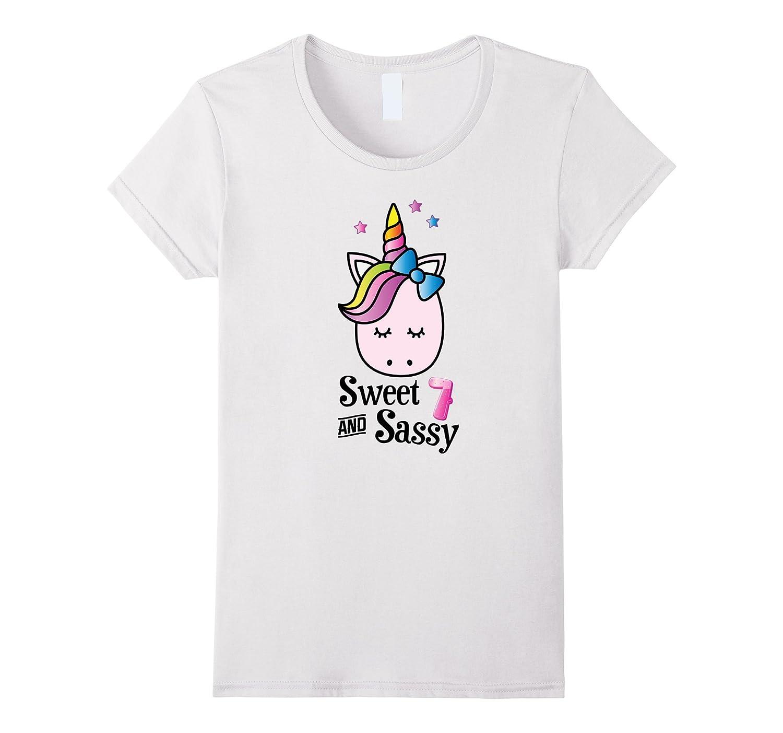 Unicorn Emoji Birthday Shirt For Girls 7, Kids, Gift