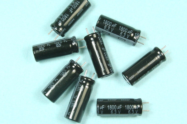 1800uf 6.3 v baja ESR condensadores electrolíticos 105 C Panasonic paquete de 2,5 o 10