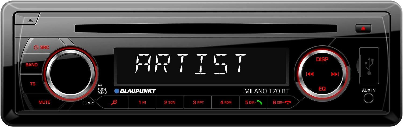 Blaupunkt MILANO170BT - Auto de Radio, Color Negro
