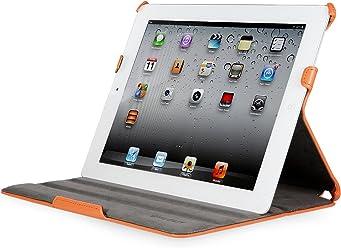 StilGut Ultraslim Case, custodia con funzione di supporto e presentazione per Apple iPad 3a & 4a generazione Wifi + 4G 16, 32, 64 GB, arancione