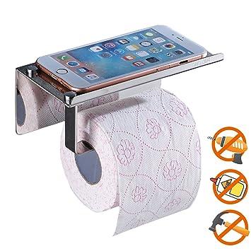 Toilettenpapierhalter ohne Bohren, SUS304 Edelstahl Badezimmer ...