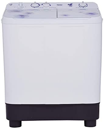 Haier 7.6 kg Semi-Automatic Top Loading Washing Machine (HTW76-1159, White) Washing Machines & Dryers at amazon