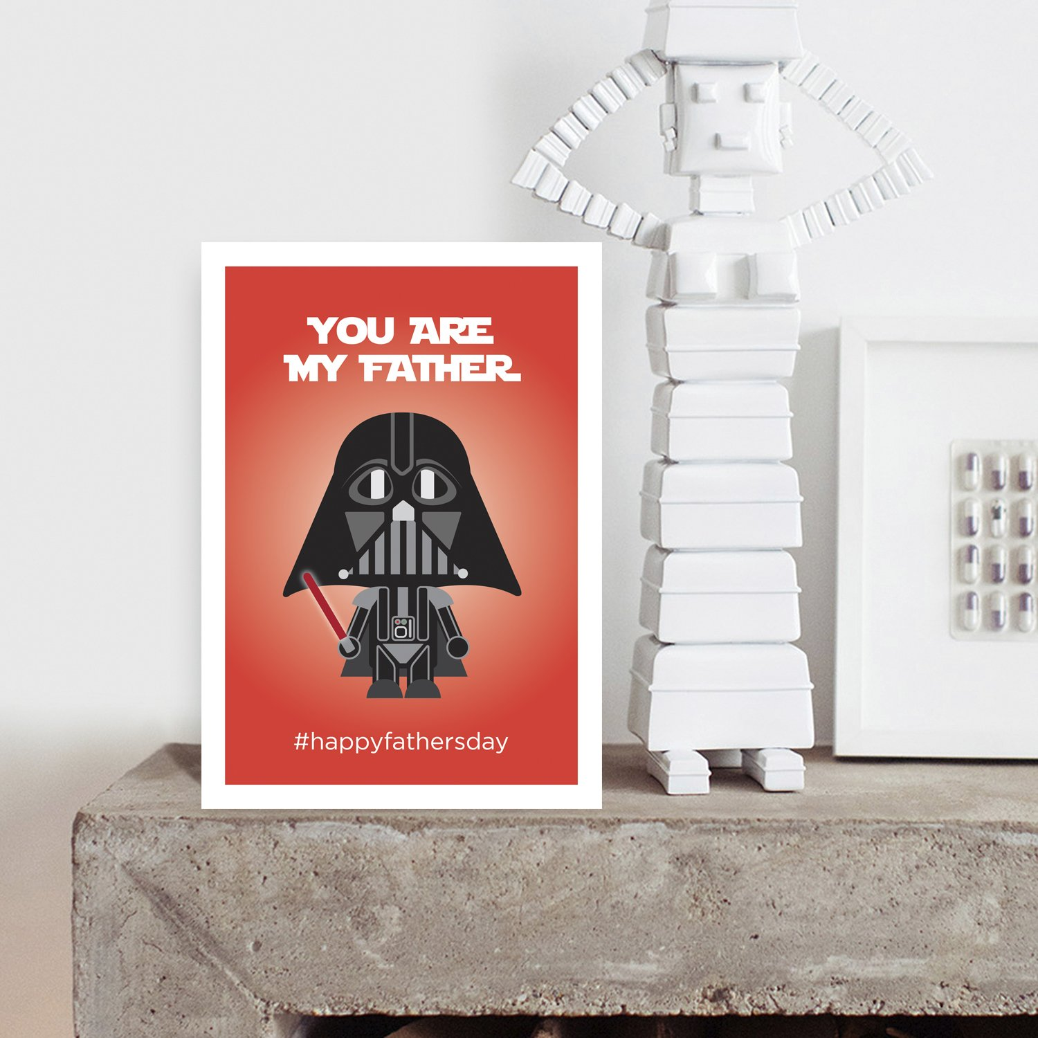 You are My Father #HAPPYFATHERSDAY Greeting Card for Him Best Card Dad Daddy Pops Papa Parent Funny Father/'s Day Card Star Wars Darth Vader