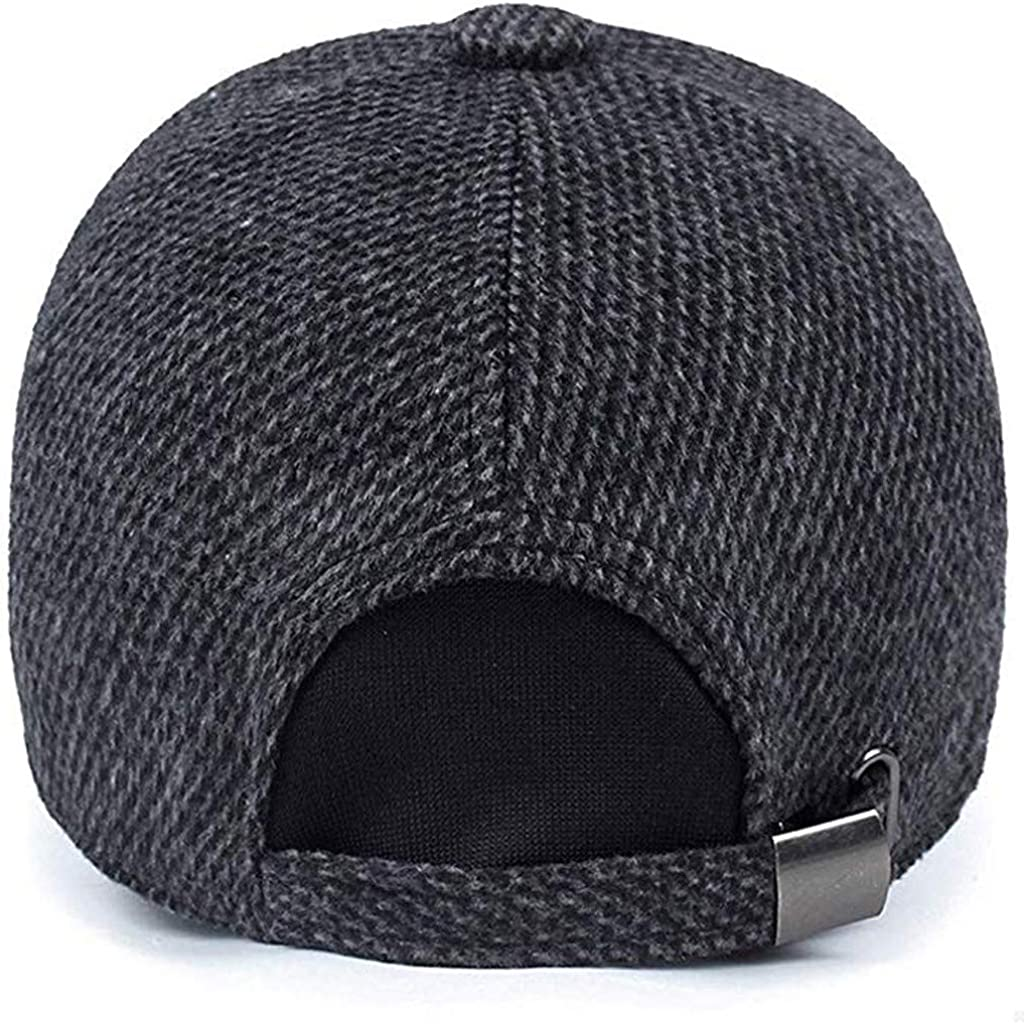 ZOMUSAR Men Winter Earflap Baseball Cap Style Cotton Suitable for Winter Outdoor Running Male Hat