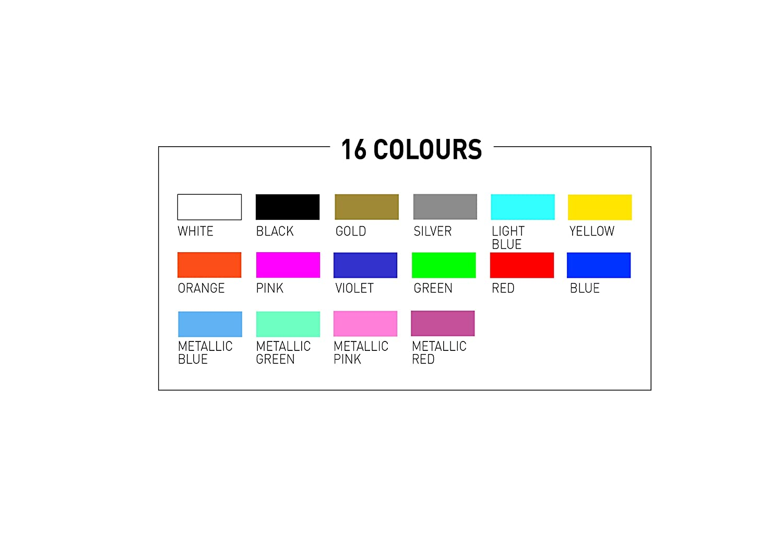 Ultra Fine Tip Uni Posca PC-1MR Paint Marker Pen Starter Set of 8 Assorted Colours