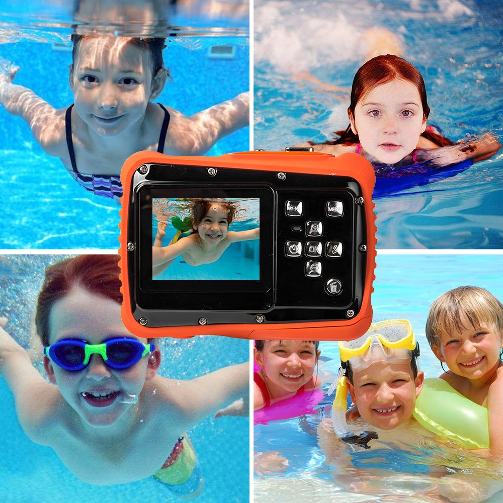 Digital Camera for Kids, Waterproof Sport Action Camera Camcorder Cam with 2.0'' LCD Screen,TOP-MAX Super HD Underwater Digital Video Camera Record Cam for Sports Swimming Diving and Beaching by TOP-MAX (Image #5)
