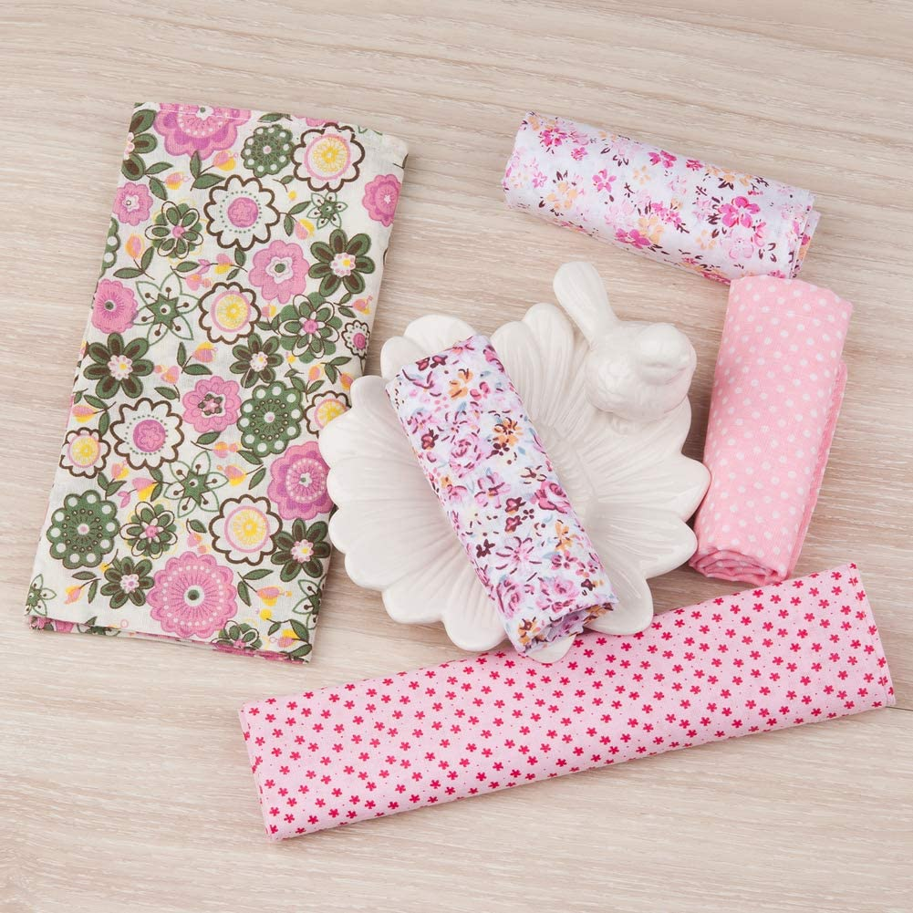 5//10 Pieces 36x36cm Houlife Ladies 100/% 60S Cotton Handkerchiefs Womens Soft Vintage Pink Floral Print Hankies for Girls Wedding Party Mother/'s Day Gift