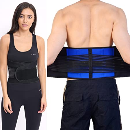 Neoprene Double Pull Lumbar Lower Back Support Belt Brace Pain Relief Adjustable