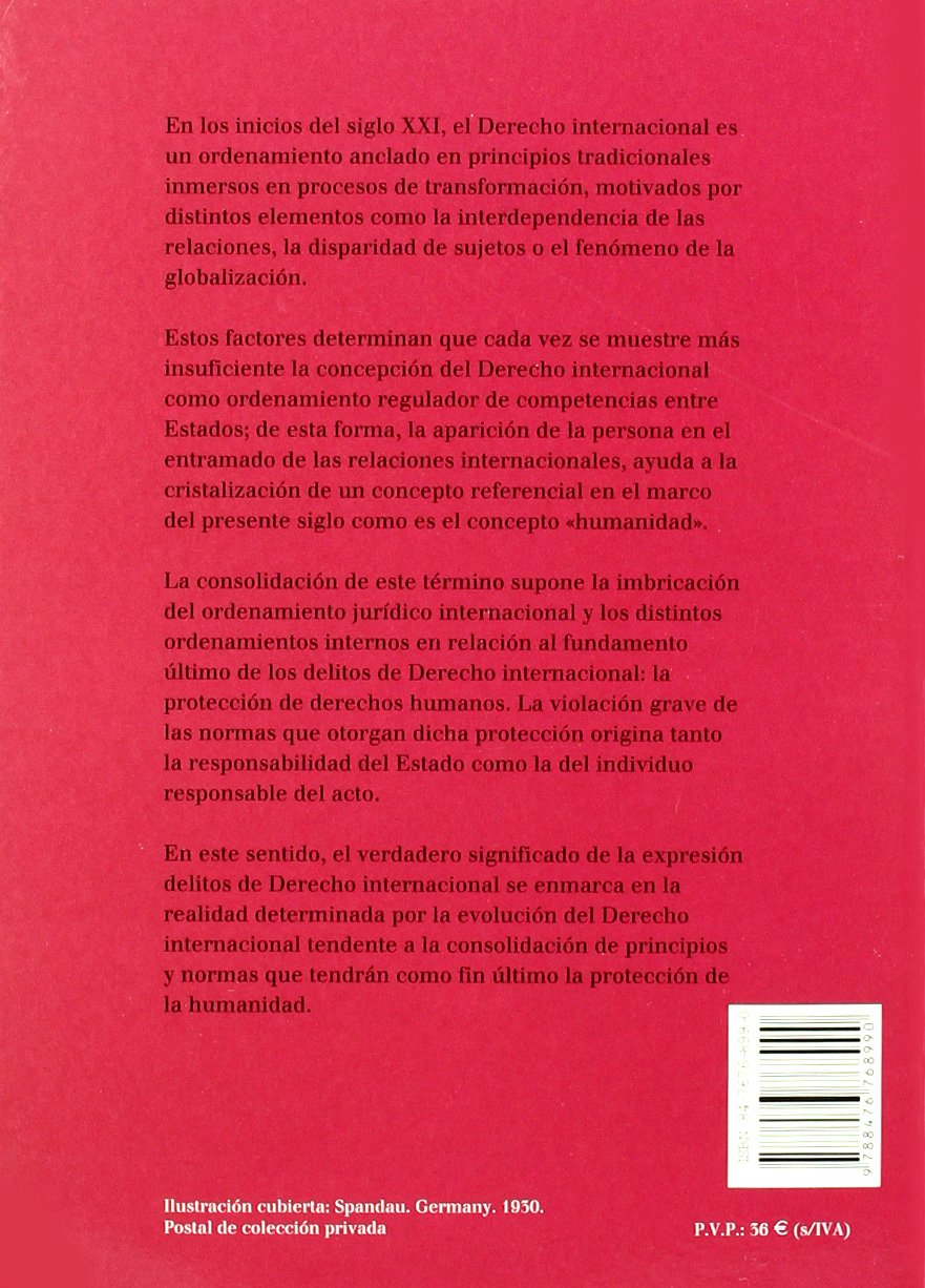 Delitos de Derecho Internacional: Tipificación y represión internacional: Amazon.es: C. Rueda Fernández: Libros