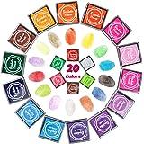 Starhealth 水性 カラフル スタンプ台 20色セット フィンガーペイント最適 手帳 DIY 結婚式 年賀状など