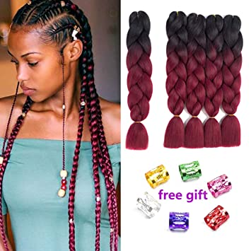 1pack Full Star Hair Ombre Jumbo Braids Hair Extensions 24 100g High Temperature Fiber Synthetic Braiding Crochet Hairstyle Jumbo Braids Hair Extensions & Wigs