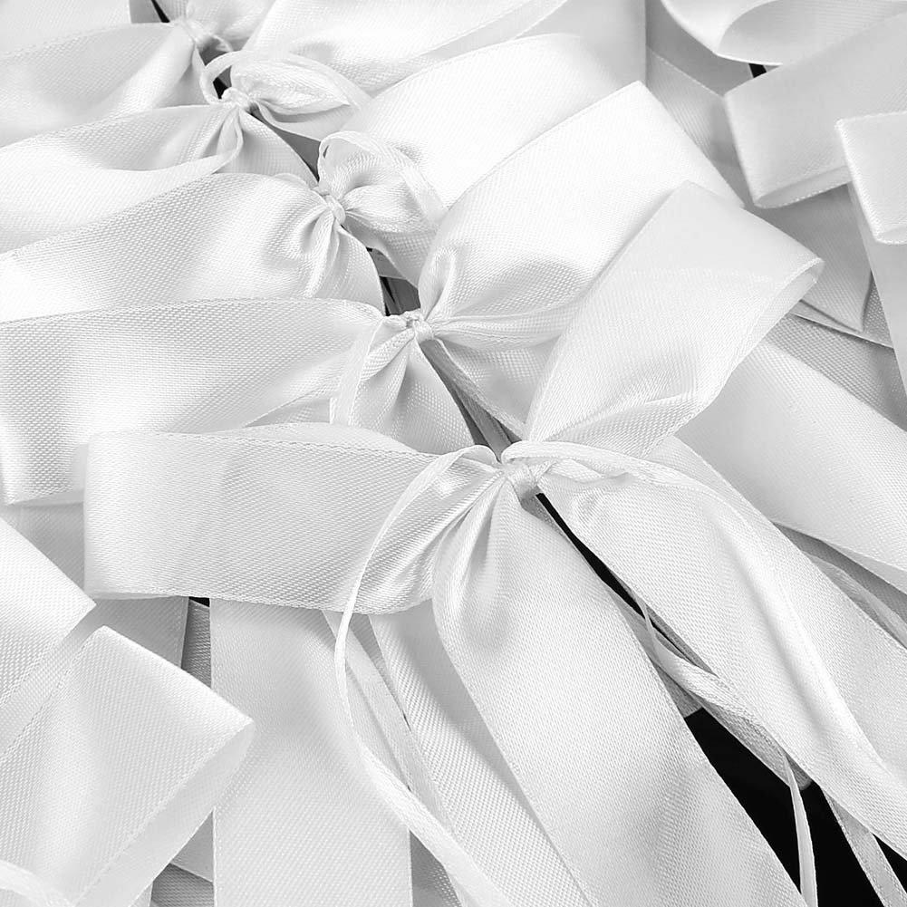 DHL Antennenschleifen Spiegelschleifen Autoschmuck Schleifen Brautwagen Hochzeit