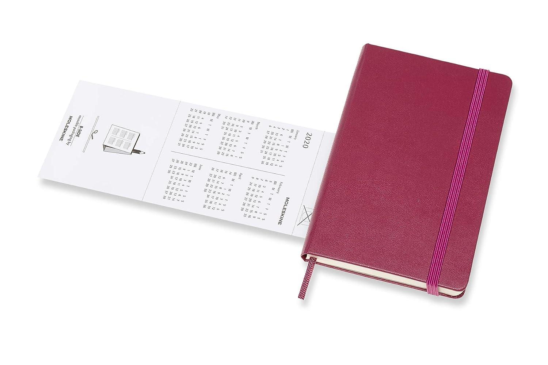 colore: Rosa scuro copertina rigida Agenda 18 mesi 2019//2020 Moleskine 8058647628462