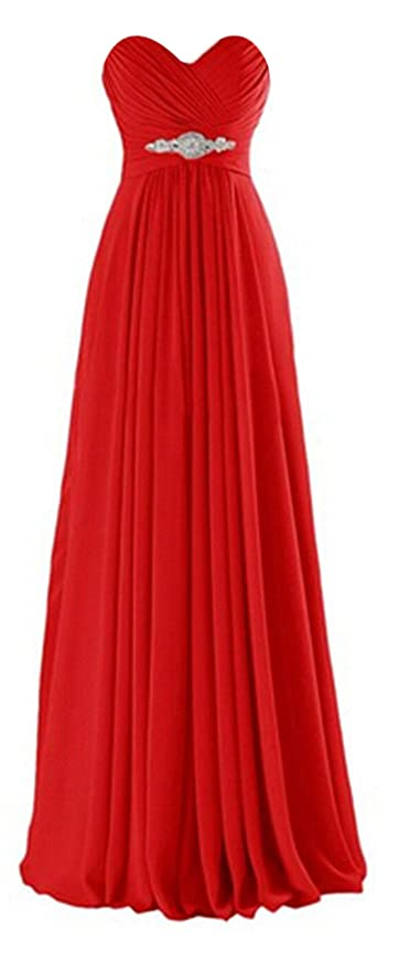 Review ThaliaDress Long Chiffon Sweetheart Evening Bridesmaid Dresses Prom Gowns T002LF