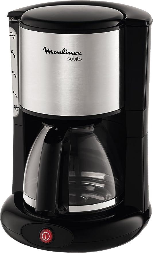 Moulinex FG360811 Cafetera de Filtro, 12 Tazas, función Auto, 1000 W, plástico, Acero Inoxidable, Inox y negro