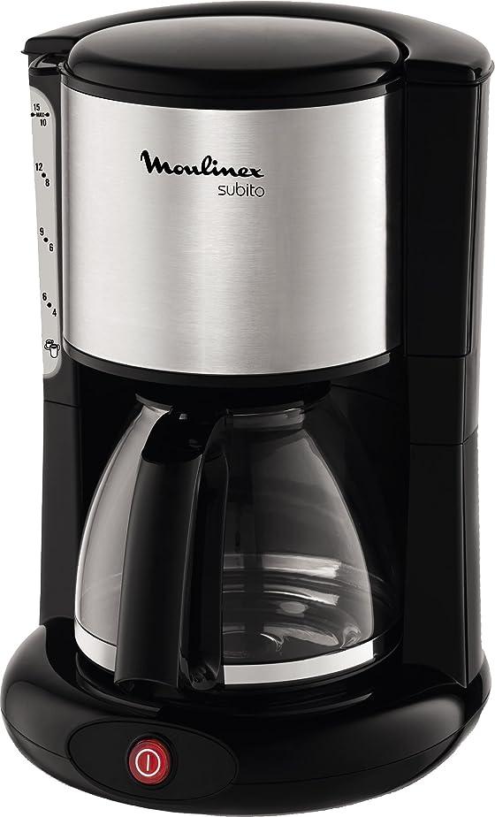Moulinex FG360811 Cafetière Subito Noir/Inox 1,25L: Amazon.fr ...