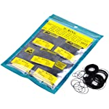 JS Direct 950pcs Round O Ring Watch Back Gasket Rubber Seal Washers Size 12-30mm, 0.5mm