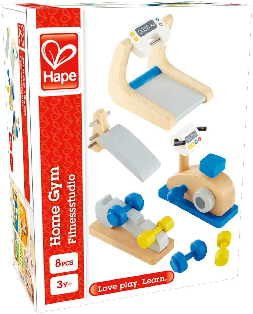 Hape Wooden Doll House Furniture Home Gym Playset and Accessories