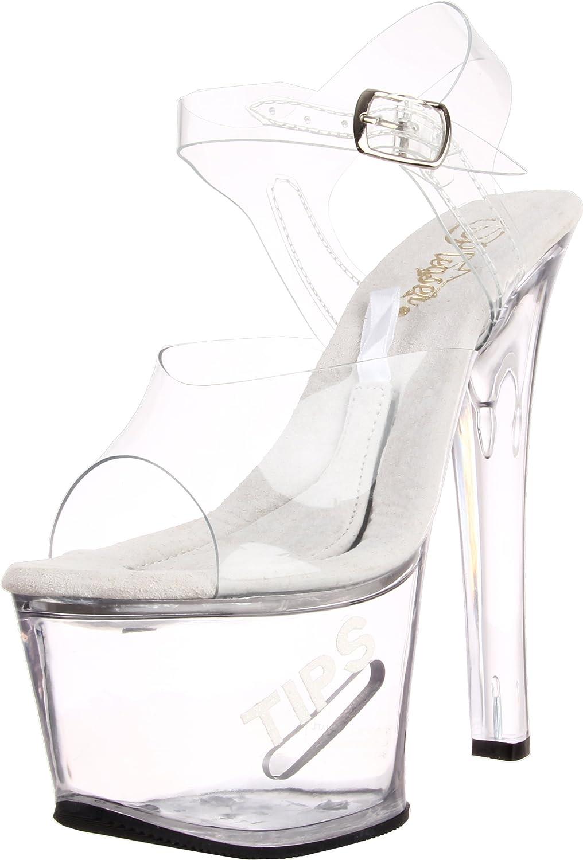 Amazon.com | Pleaser Wome Tipjar-708-5 Platform Sandal | Platforms & Wedges