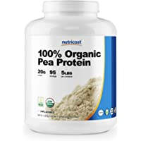 Nutricost Organic Pea Protein Isolate Powder (5LBS) - Unflavored, Certified USDA Organic, Protein from Plants, Vegan…